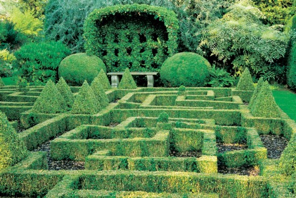 Labyrinth im Garten England