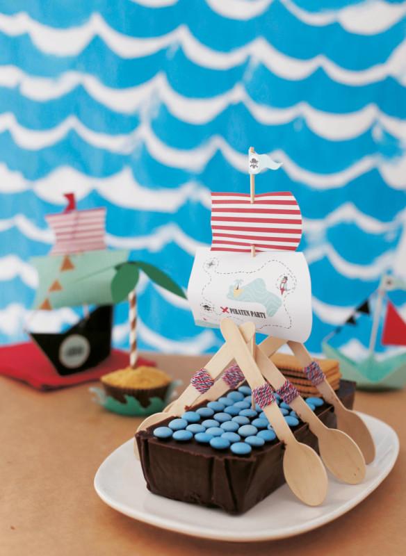 kindergeburtstag piratenparty dekoideen  piratenkuchen kindergeburtstagskuchen