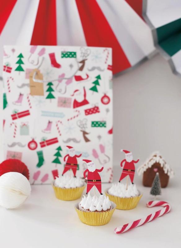Weihnachtsparty Weihnachtsdeko  Rezeptideen  Schneeflockencupcakes  Cupcakes für Kinder