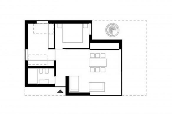 Pedevilla Architects Einfamilienhaus Grundrissatlas Grundriss Erdgeschoss