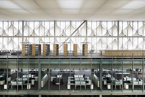 Ausgezeichnet Stahlbau 2016 King Fahad Nationalbibliothek Riad Innenansicht