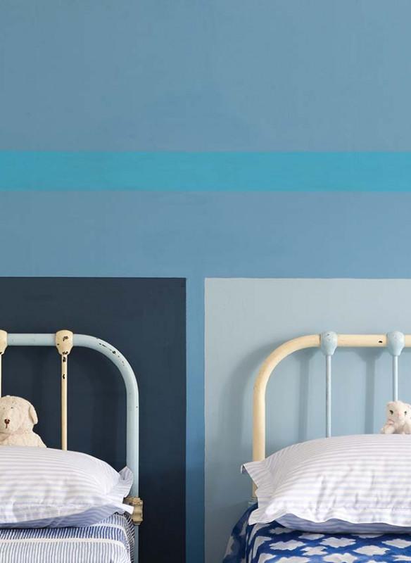 Farrow & Ball Stilvoll wohnen mit Farbe Stone Blue Kinderbett
