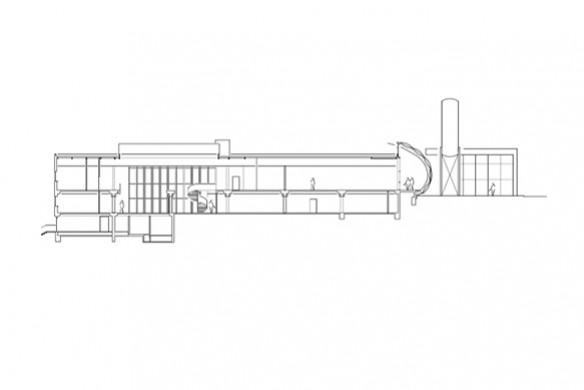 Ausgezeichneter Stahlbau 2016 Fraunhofer Institut Sulzbach Querschnitt