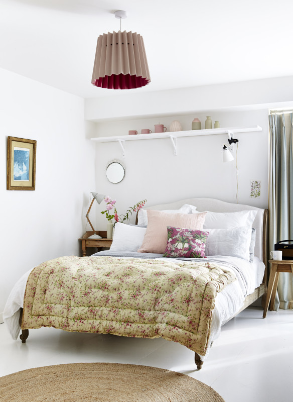 Callwey Wohnbuch Schlafzimmer floral Lampe