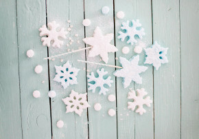 Kindergeburtstag Schneeflocke Feiern mit Kindern Winter