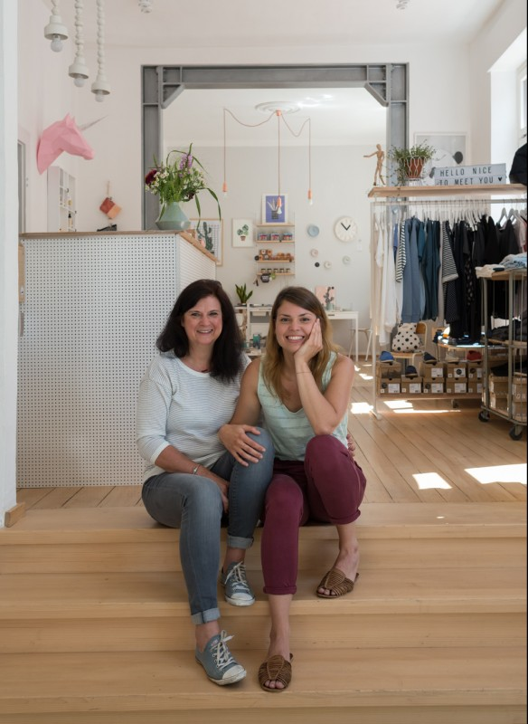 Shop Girls Existenzgründung Familie Laden