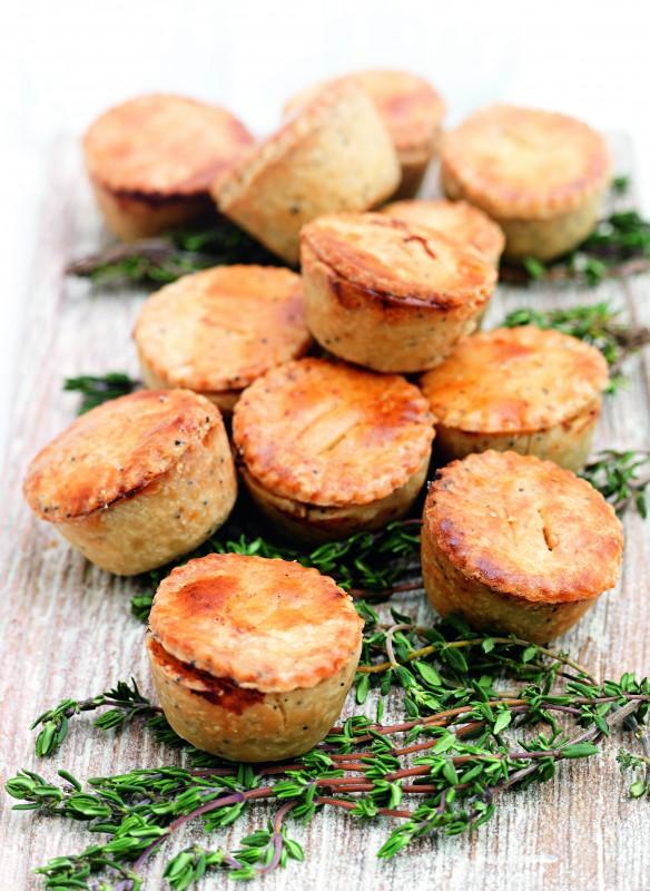 Mini-Chicken-Pies mit Lauch Rezept