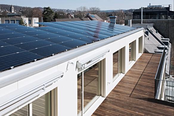 Architekturbuch Aktivhaus Dach