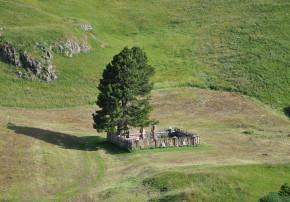 Der Bauerngarten in Bivio, Graubünden, auf rund 1800 m.ü.M gelegen, Sinnbild für die Urform des Gartens