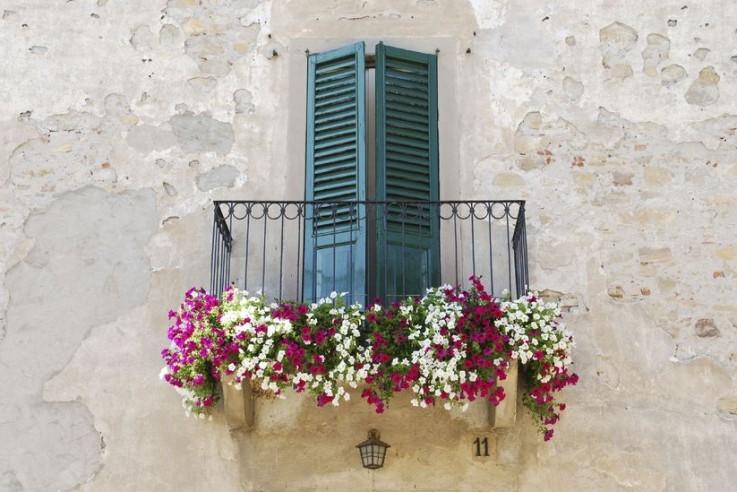 Balkon Gestaltung Blumen