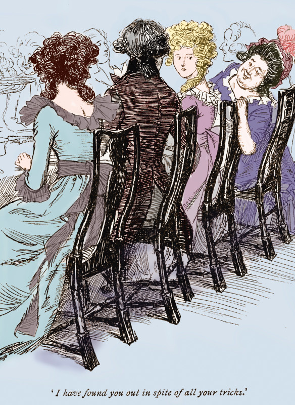 Illustration by Hugh Thomson from Sense and Sensibility by Jane Austen