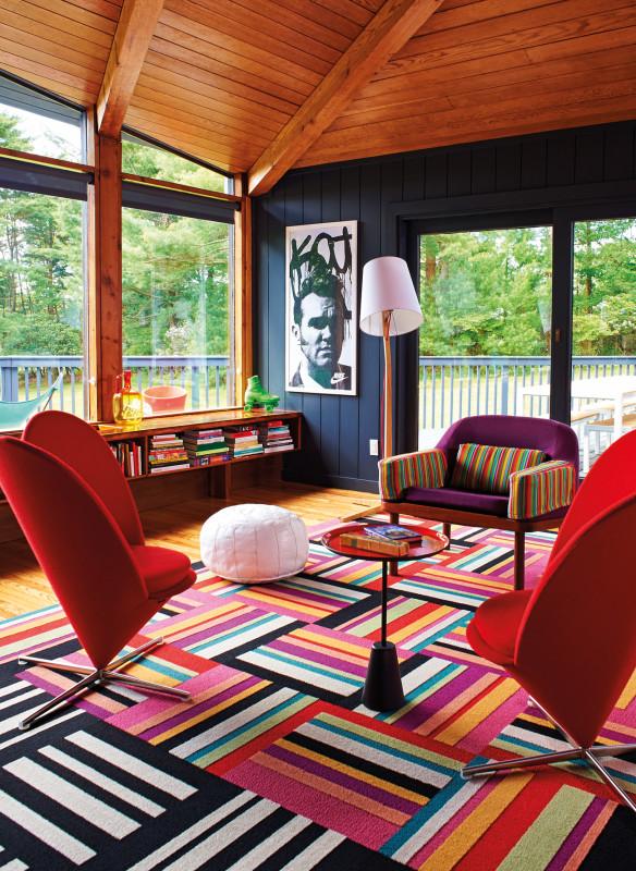 Modernes Wohnen bunte Farben Sitzgruppe
