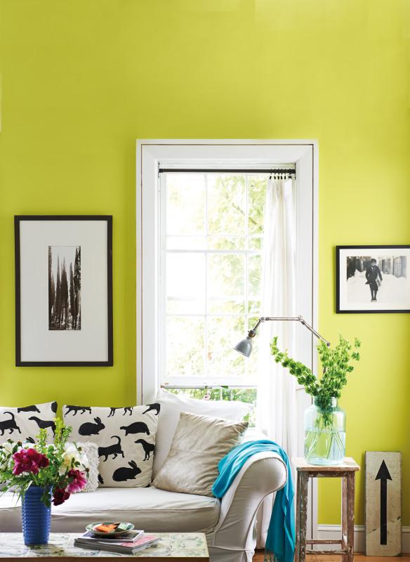 Wohnzimmer lindgrün Einrichtung