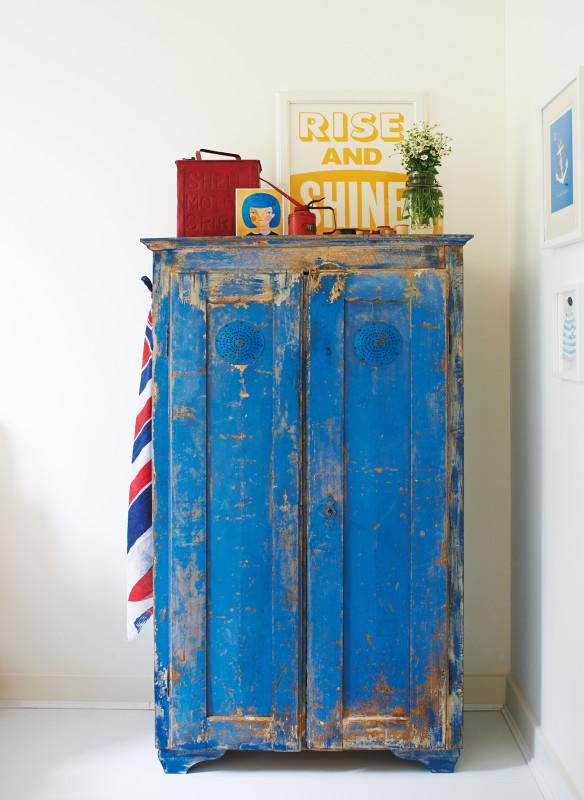 Bauernschrank vintage blau
