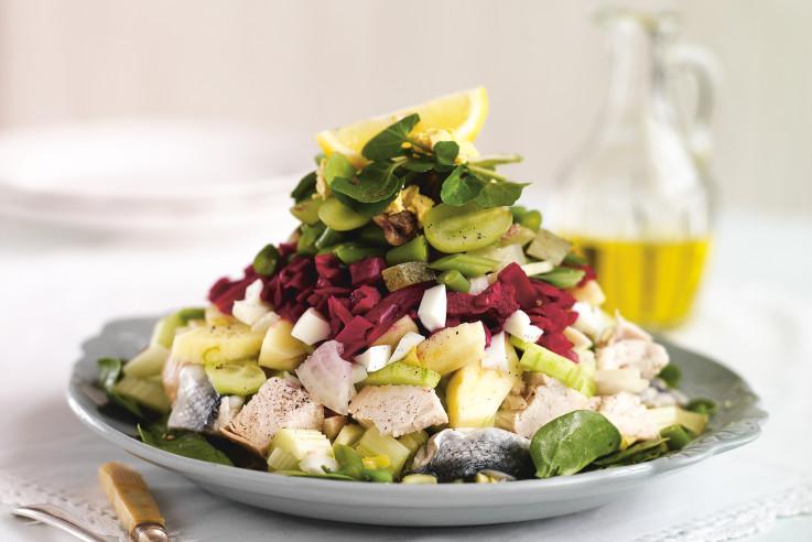 Salmagundi-Salat Rezept   Allerlei-Salat   kalte Gerichte   Callwey Kochbücher