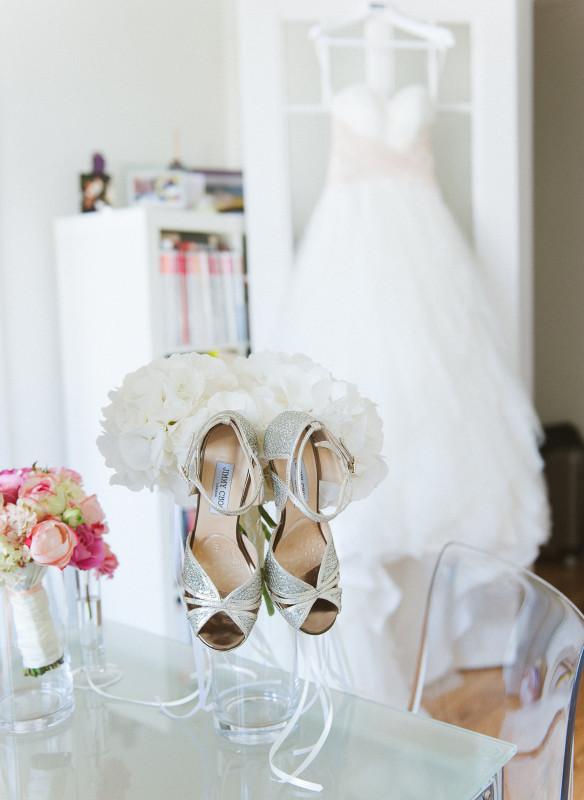 Getting Ready Sie Hochzeit