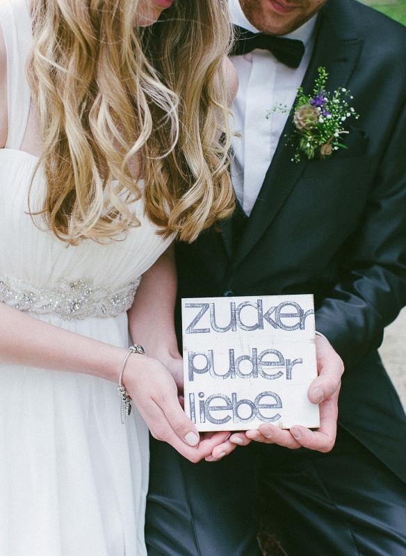 Hochzeitspaar Die leise Botschaft der Liebe