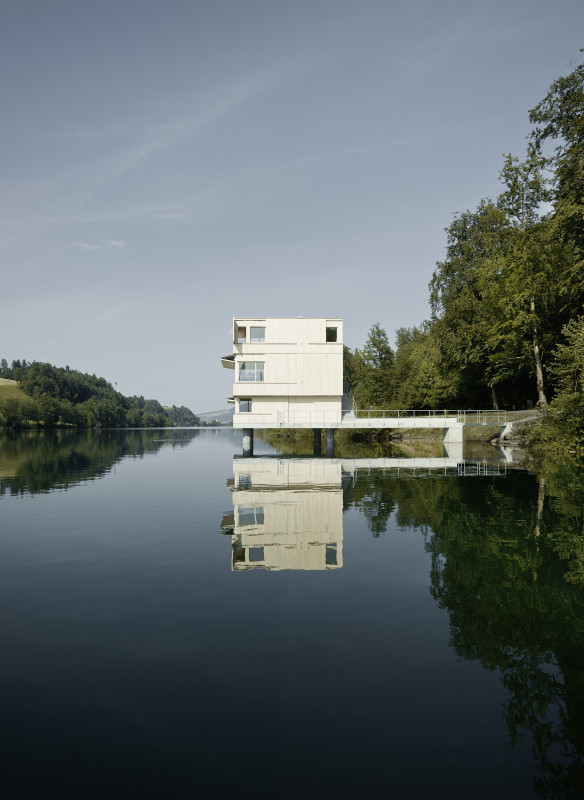 Zielturm Rotsee Schweiz  Fuhrimann Hächler Architekten