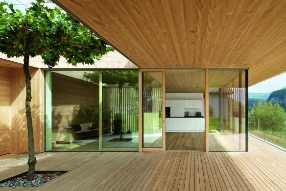 Veranda Architektur Holz Ideen