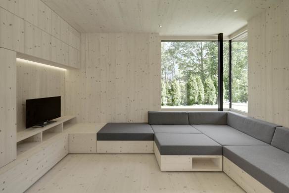 Holz Inneneinrichtung modern
