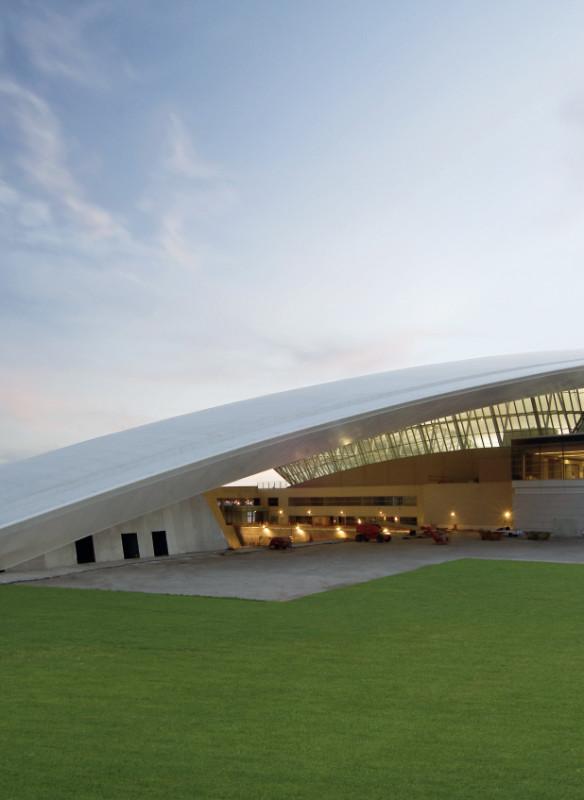 Moderne Architektur Flughafen Carrasco