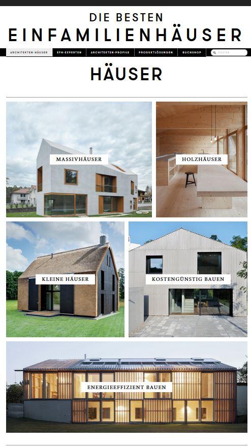 Die besten Einfamilienhäuser\