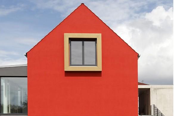 Putzfassade rot Ideen Architektur