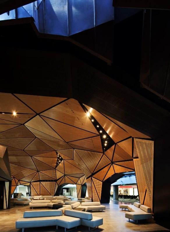 Flughafen Wellington - Architektur Felsen