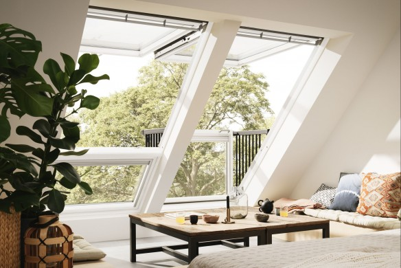 Dachfenster mit Ausstieg von Velux