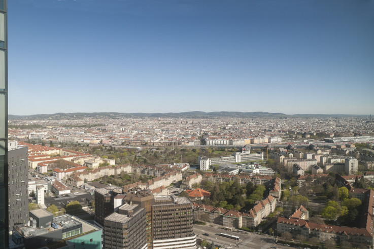 Panoramic view from Vienna Twin Towers