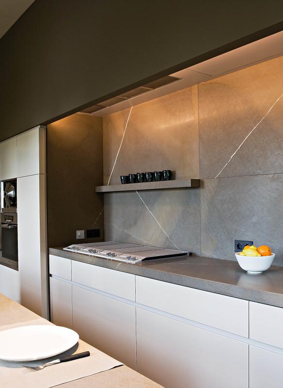 Küchenideen modern schwarz weiß