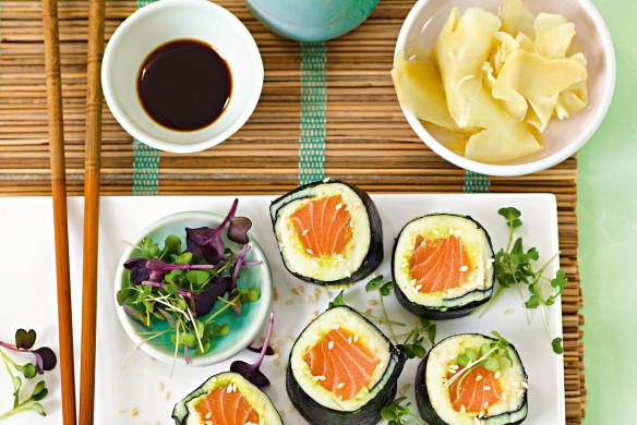 Rezept Patrick Gebhardt Kartuschi-Sushi mit Kartoffel, Nori & Lachs