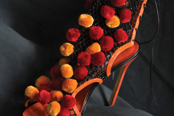 Manolo Blahnik Orange Rot