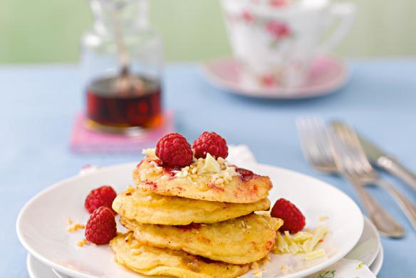 Rezept Patrick Gebhardt Mandel-Himbeer-Pancakes