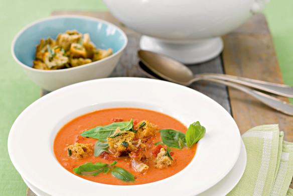 Tomatencremesuppe mit Panchetta Rezept