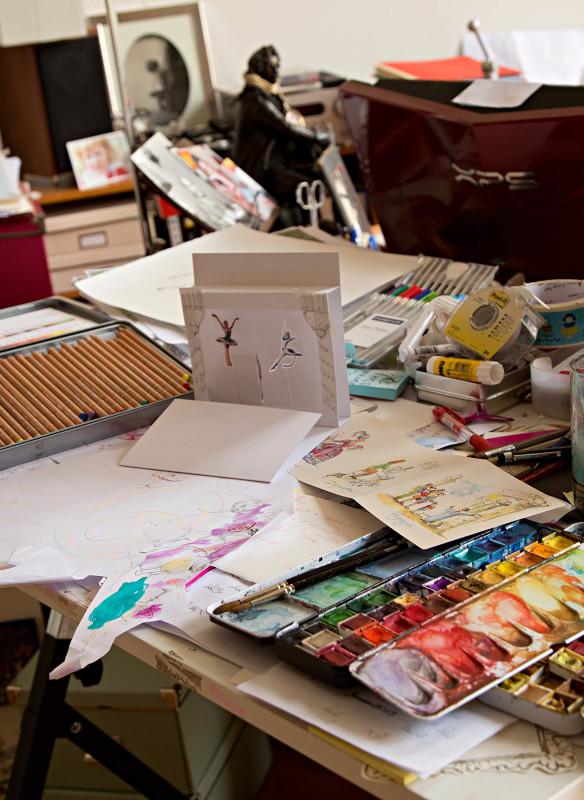 Der Schreibtisch von Florine Asch