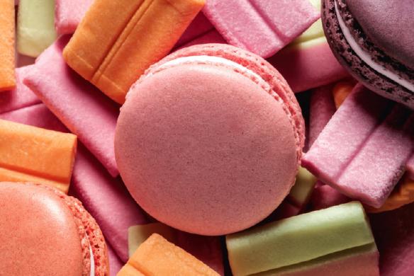 macaron bubble gum