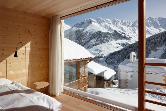 Wunderschöner Alpen Ausblick - Leishäuser Peter Zumthor