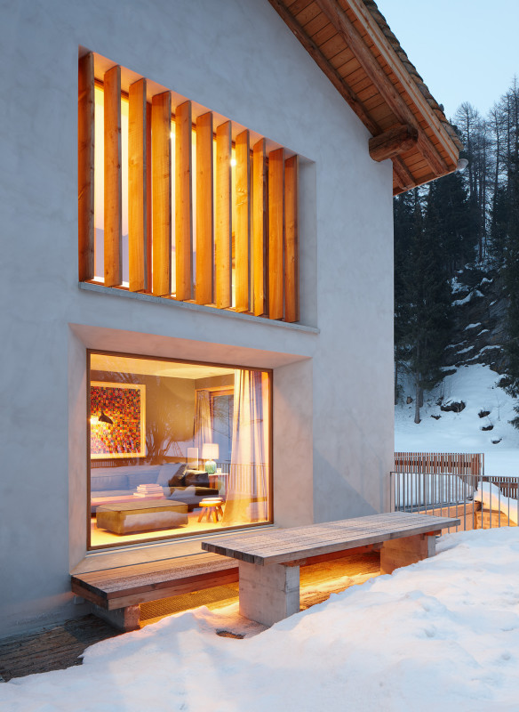 Architektur Blick ins Haus Armando Ruinelli