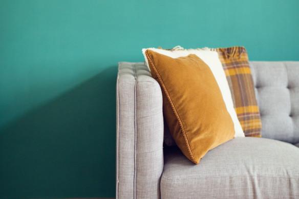 Wohnideen - Knallige Wandfarbe von WienerWohnsinn