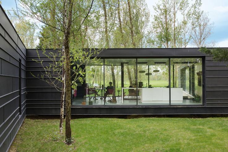 Bauen mit Architekt vmzinc haus metallfassade