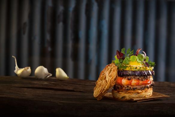 Burger Unser Mie-Nudeln-Garnelen-Burger