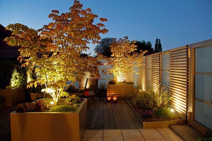 Ein Dachgarten als Wohnzimmer unter freiem Himmel
