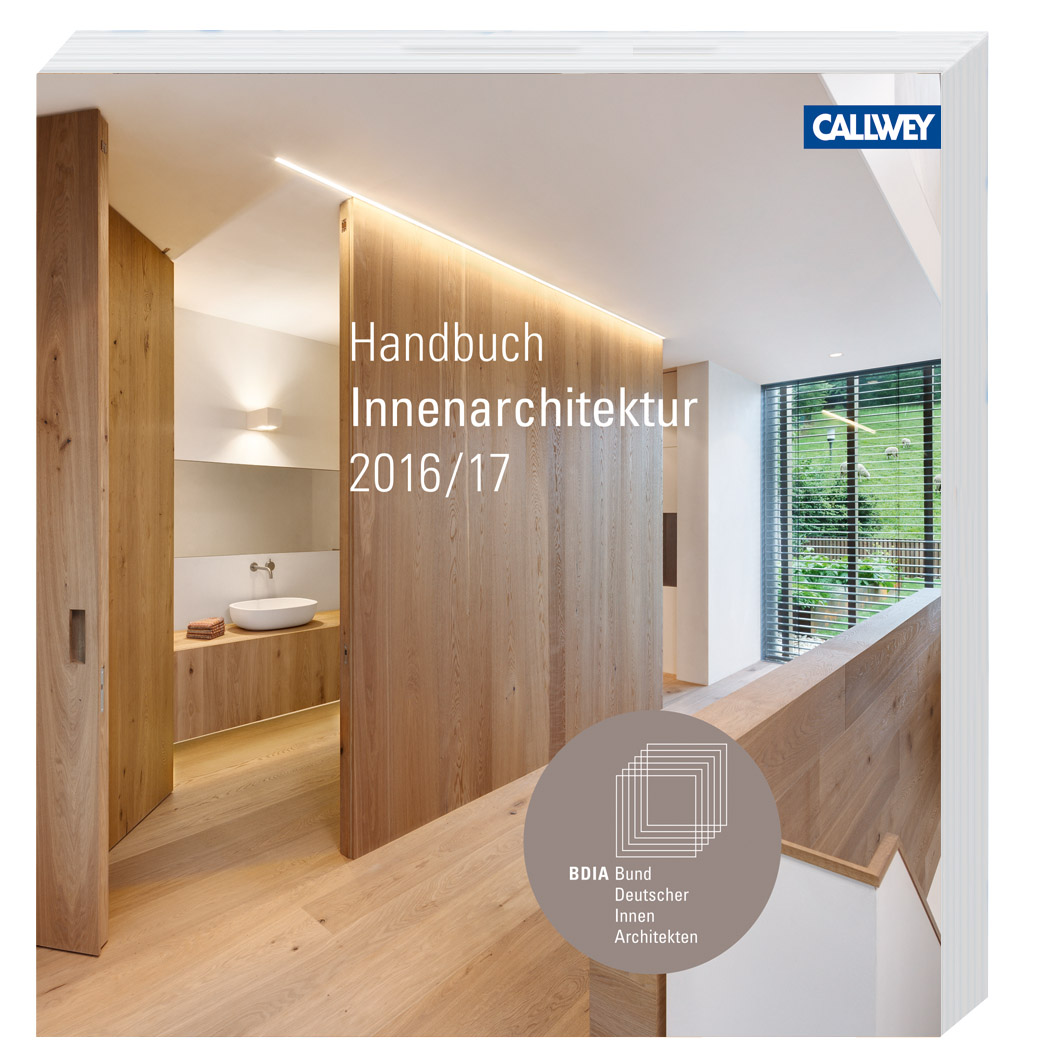 Bdia handbuch innenarchitektur 2016 17 architekturb cher for Innenarchitektur was ist das