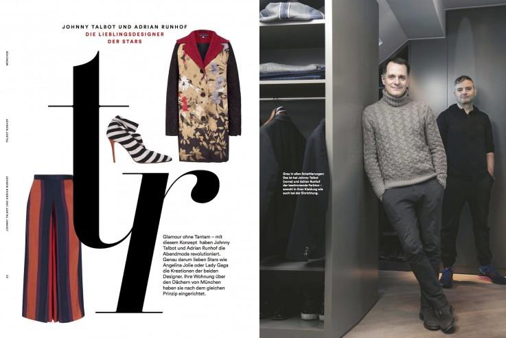 Talbot Runhof Fashion at home designer Zuhause