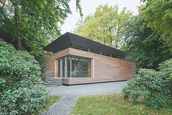 Ausgezeichneter Stahlbau 2016 Privatbibliothek Hamburg Aussenansicht