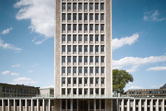 Ausgezeichneter Stahlbau 2016 Gerling-Hochhaus Köln Aussenansicht