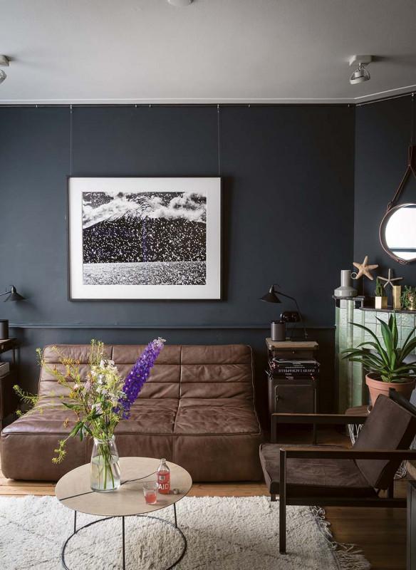 Farrow & Ball Stilvoll wohnen mit Farbe Black Blue Wohnzimmer