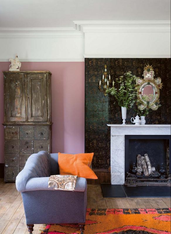 Farrow & Ball Stilvoll wohnen mit Farbe Cinder Rose Wohnzimmer