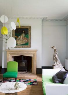 Farrow & Ball Stilvoll wohnen mit Farbe Lime White Stuckleiste